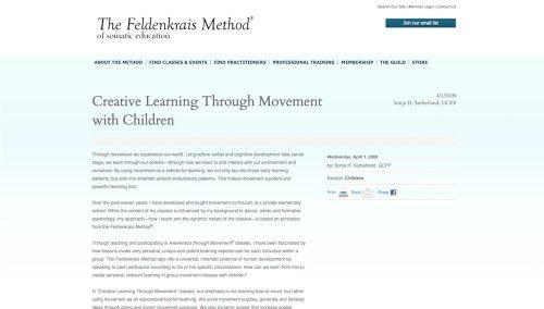 Creative Learning Through Movement with Children The Feldenkrais Method of Somatic Education-thumbnail