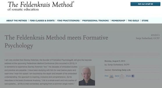 The Feldenkrais Method meets Formative Psychology
