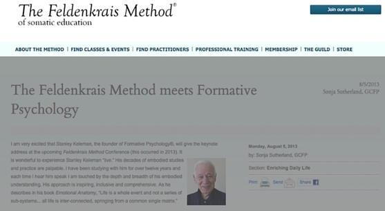 The Feldenkrais Method Meets Formative Psychology