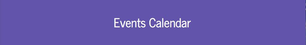 Events Calendar header